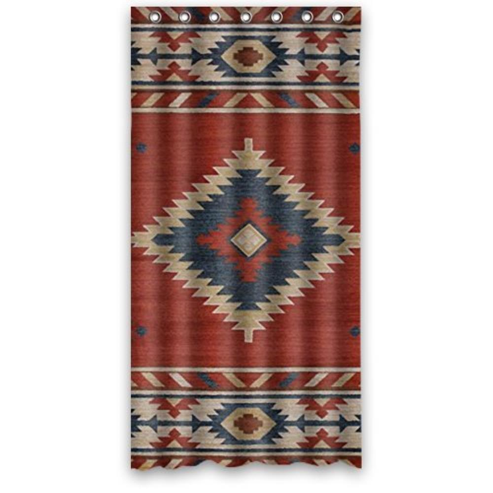 36(W)x72(H)-Inch Waterproof Bathroom Southwest Native American Custom Shower Curtain Bathroom Decor Polyester Shower Curtain
