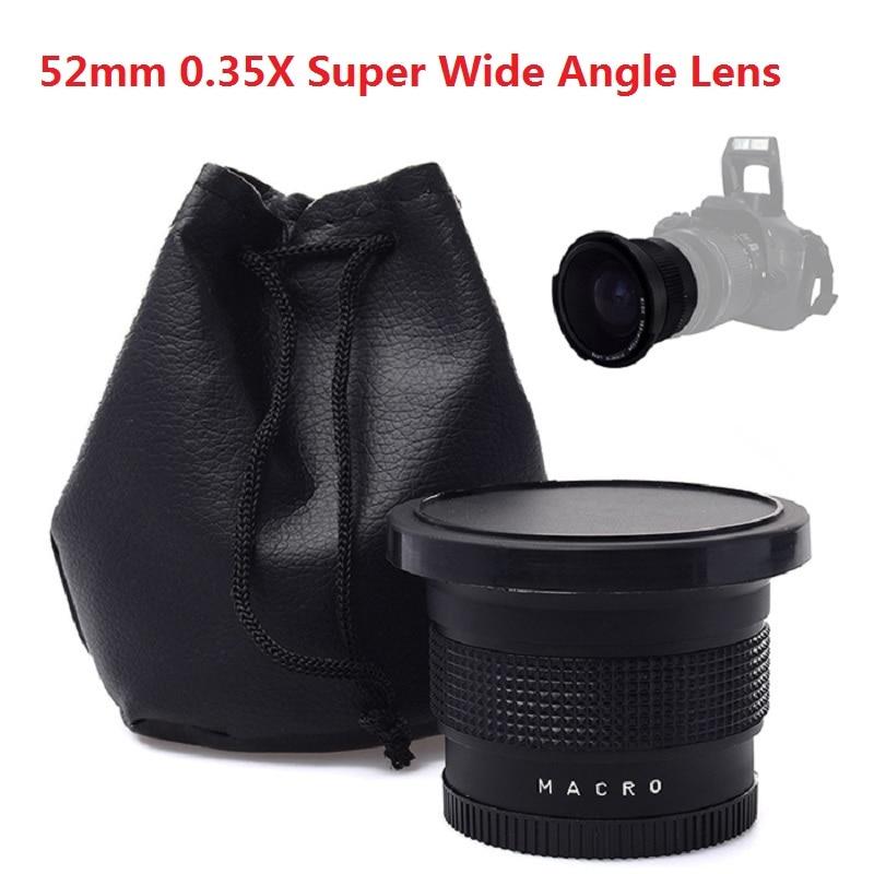 Nikon D7200 D7100 D5100 D5100 D5100 D5000 D3100 D3200, 18-55mm 카메라 렌즈 용 Lightdow 52mm 0.35x 슈퍼 와이드 앵글 렌즈 렌즈