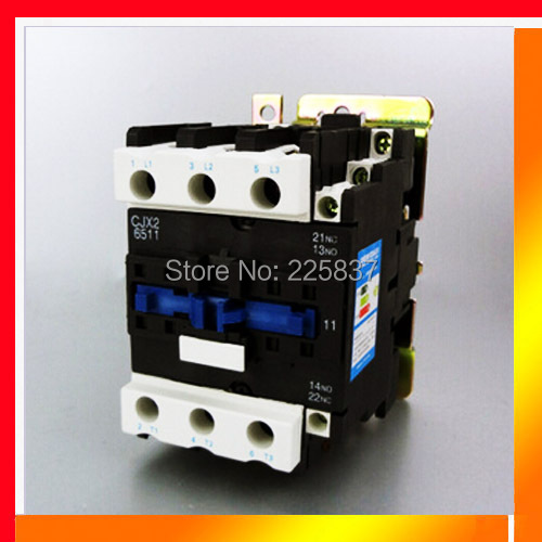 Free shipping CJX2-65 CJX2-6511 LC1-D65 contactor 63A magnetic AC contactores-380v 12v 24v 220v coil 3P+NO+NC ac contactor motor starter relay lc1 cjx2 1201 3p nc 220 230v coil 12a 3kw
