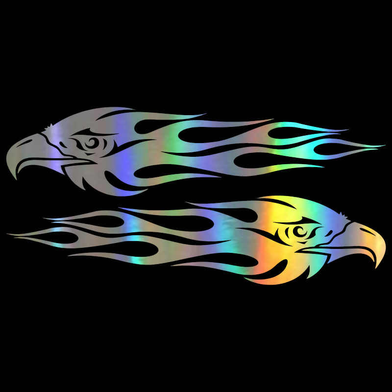Auto Sticker 3D 20*4.7CM Paar Eagle Vlammen Sticker Grappige Sticker Op Auto Grappige Stickers en Decals Vinyl auto Styling