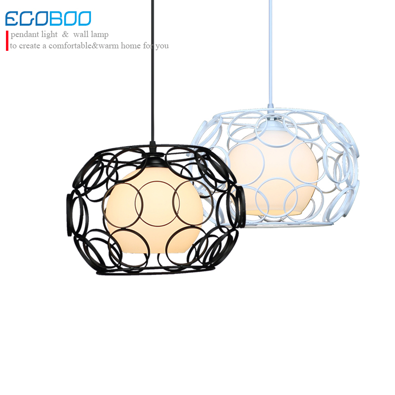 New Retro Iron and Glass Pendant Lights Loft Vintage Lamp Restaurant Bedroom Living Room E27  Pendant Lamp Hanging Light Fixture