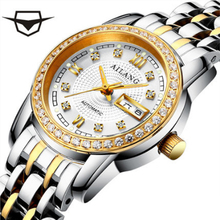 AILANG watch ladies watch luxury fashion brand double calendar mechanical waterproof stainless steel ladies watch
