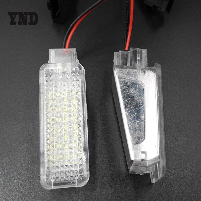ЫНД 2x Белый светодиодов камера под свет учтивости двери для ног лампы для Audi А3 А4 А5 А6 С6 С5 С4 С4 РС4 А8 В7 ТТ