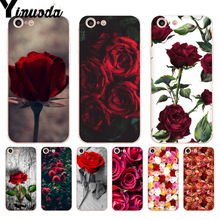 Yinuoda Beautiful Garden Red Roses Flowers Coque Phone Case for iPhone 8 7 6 6S Plus X 5 5S SE 5C XS XR11 11pro 11promax