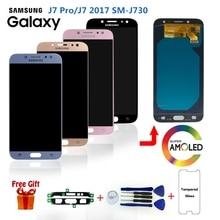 AMOLED для samsung Galaxy J7 Pro J730 SM-J730F Дисплей ЖК-дисплей Экран Замена для samsung J7 2017 730FM J730G J730GM ЖК-дисплей Дисплей