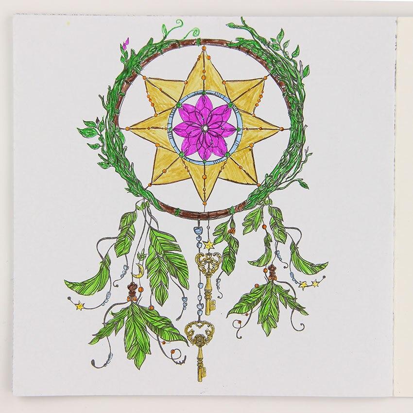 24 страницы DIY Рисования книга мандалы цветок английский издание раскраска для Чайлдс взрослых снять стресс время картина