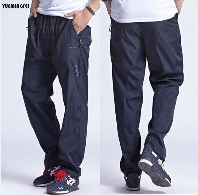 Sportswear dos homens Sweatpants Ao Ar Livre Rapidamente Seco Respirável casuais Calças de Exercício de Trabalho Fora Corredores Calças Para Homens L-3xl