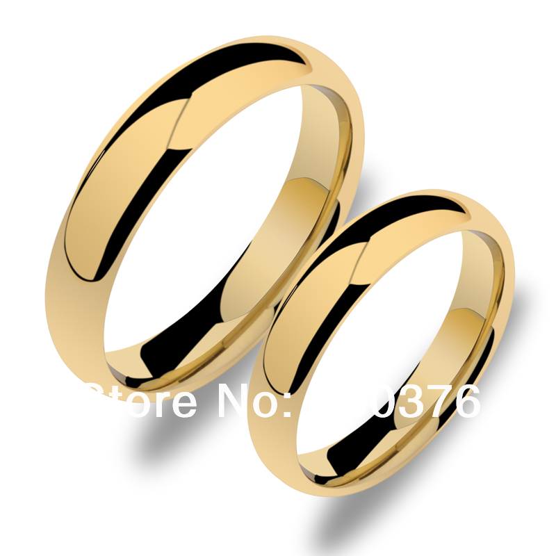 hot gold plated 5mm35mm tungsten carbide ring comfort fit jewelry for men - Cheap Wedding Rings For Men
