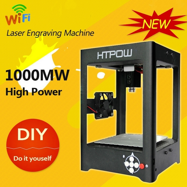 Mini DIY 1000mw Wifi Laser Cutter USB Laser Engraving Machine Engraver SuperCarver Laser Printer Marking For Windows Android