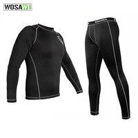 WOSAWE 겨울 열 양털 오토바이 옷 속옷 따뜻한 크로스 승마 바지 정장