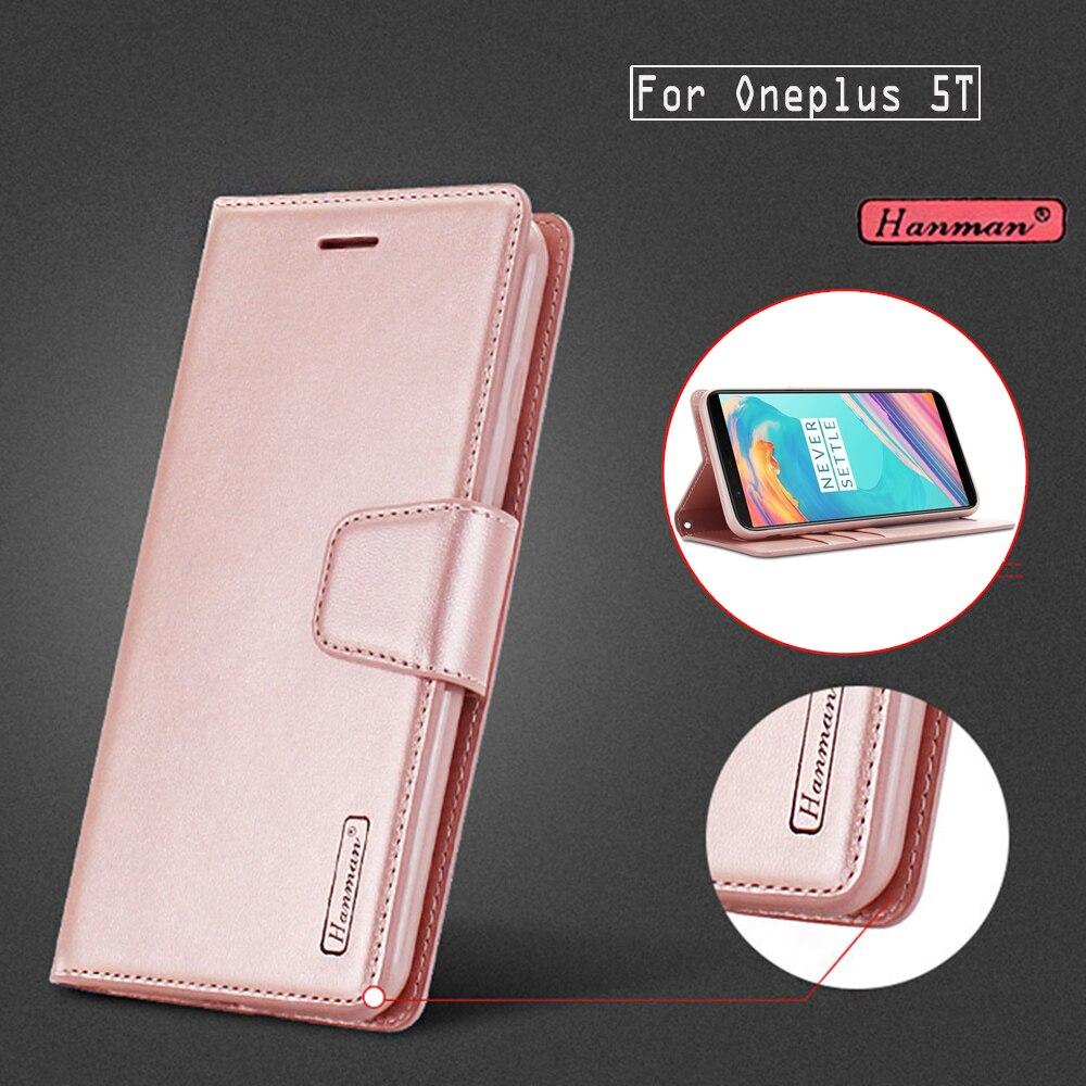 Oneplus 5T Case Original Hanman Leather Case for OnePlus
