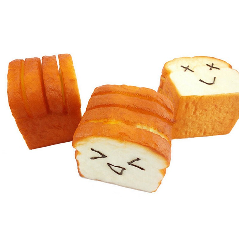 1pcAntistress  Scented Sweet Charms Bread Kids Toy Food Pretend Play Kitchen Toys Squishy Slow Rising Slice Bread Antistress Toy