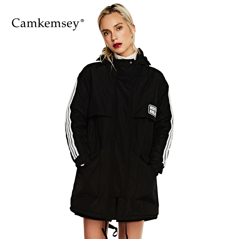 CamKemsey Down Cotton Winter Jacket Women Coats Hooded Long Jacket Women Thick Warm Padded Parkas Female Overcoat 2017 new winter parkas hooded women jacket coats elegant temperament thick warm down cotton long overcoat casual lady clothing