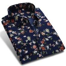 Пуговицах формальное отпечатано горошек коллекция цветочные бизнес новая рубашка рубашки весна