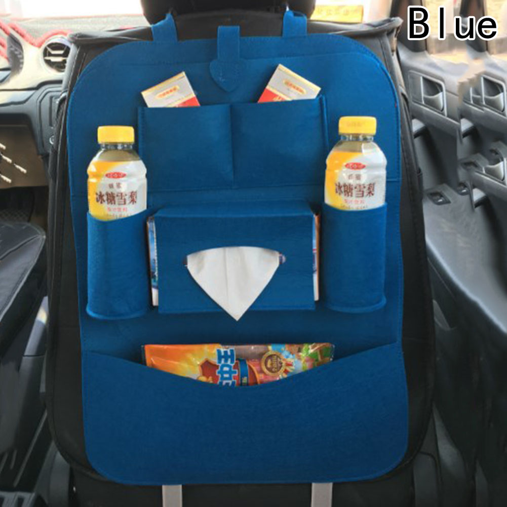 Interior Accessories Bags Car Travel Stowing Tidying Car Backseat Bag Back Storage Organizer High-grade Blankets Seat