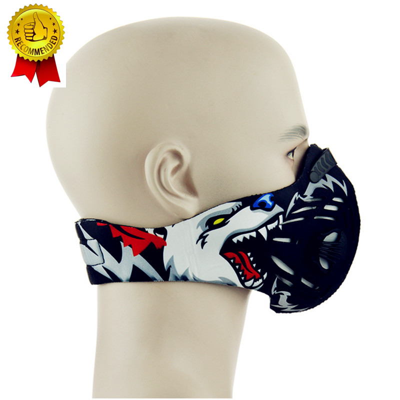 Free Size Air Filter Sport Face Mask Training Bicycle Cycling Half Face Mask Bike Running Jogging Innrech Market.com