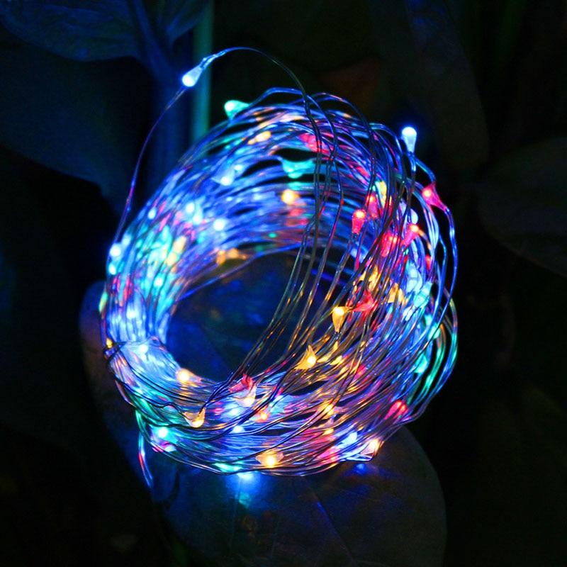 Feimefeiyou 100LED batería a prueba de agua led de cobre hilo de - Iluminación de vacaciones - foto 3