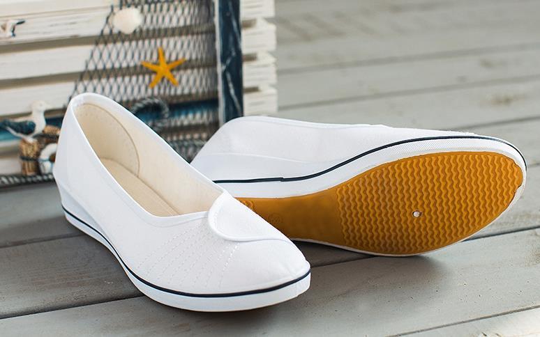 forme Plat Respirant Nouveau Automne 2018 Solide Glissante Doux Mère Toile Plate Femme Chaussures A7OxUwq