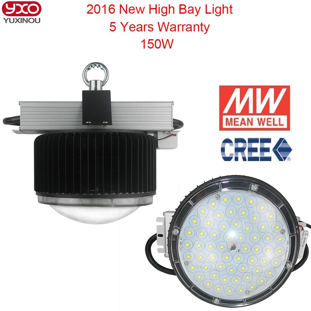 Le conducteur de cree dimmable 150 W lumière led haute baie Meanwell remplacent la lampe à haute pression de sodium de 500 w 150 watts a mené l'ampoule industrielle