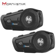 M6 Plus Waterdicht Motorfiets Moto Draadloze Bluetooth Helm Intercom Interphone Headset Met Fm Radio Helm Headset Voor Rider