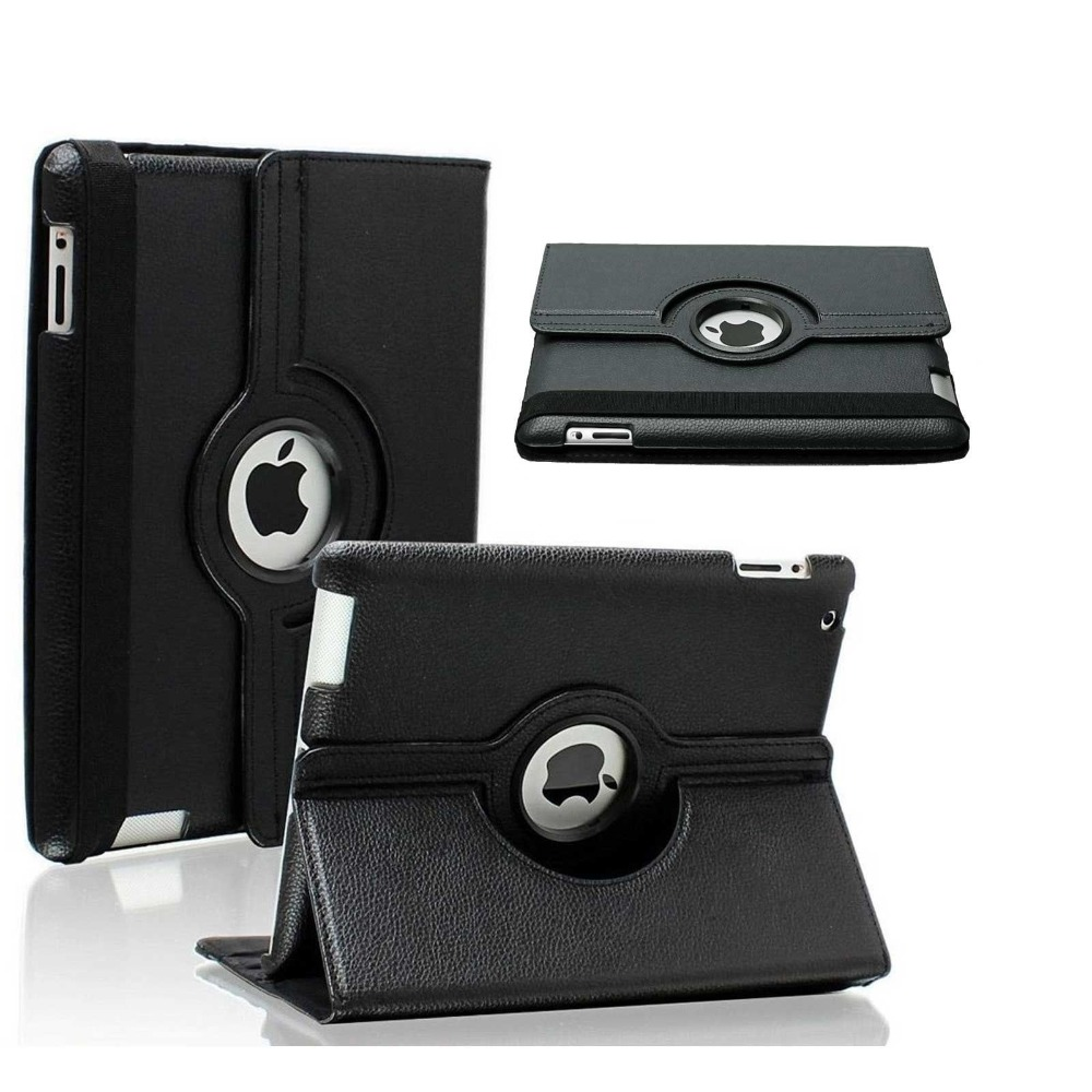 360 Degree Rotating Leather Tab Case Cover Protector Skin Pouch For Apple Ipad Mini 2 3 &Amp; Temperd Glass 7.9