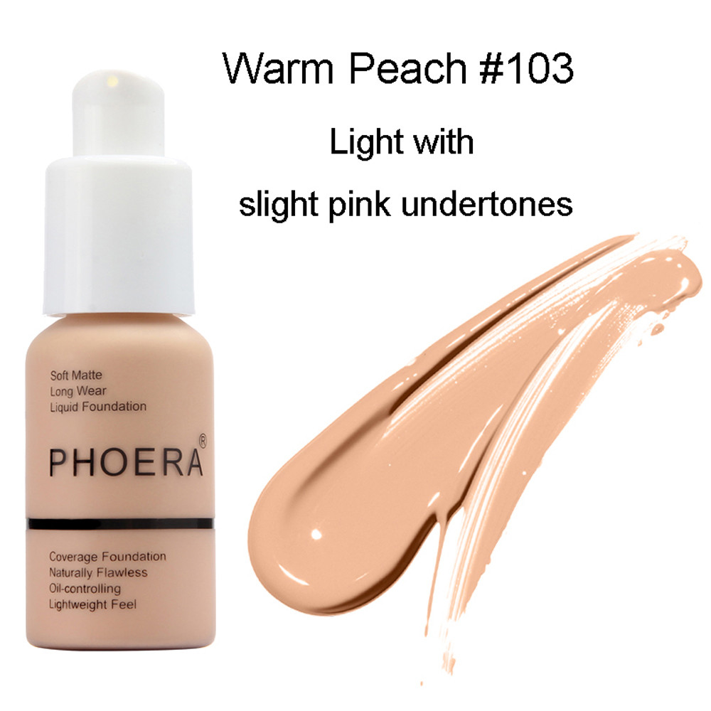 Liquid Foundation Concealer Cosmetic Cream Soft Matte Long Wear Oil Control Beauty Womens Makeup Portable 30ml Fast Ship in Face Foundation from Beauty Health