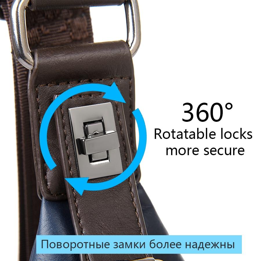 JackKevin Mäns Mode Crossbody Bag Stöldskyddad Roterbar Knapp - Handväskor - Foto 4