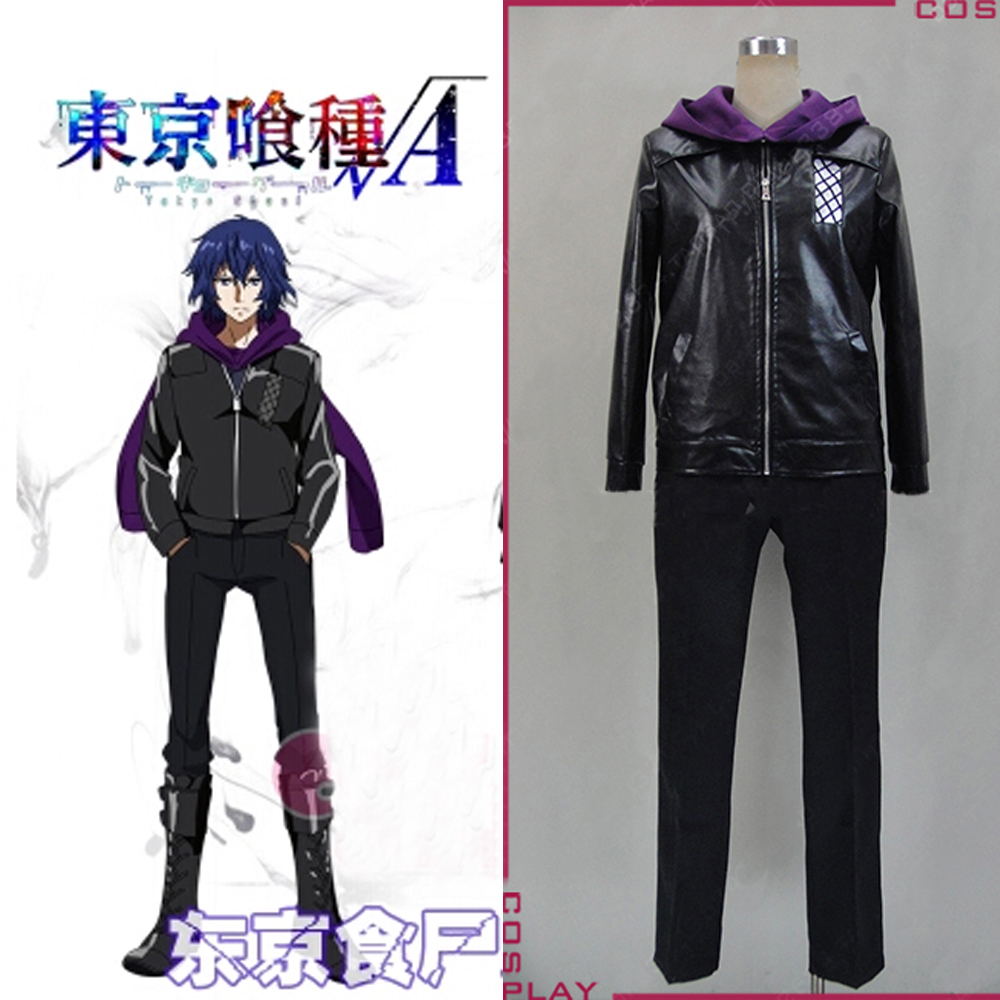 Men Anime Tokyo Ghoul Cosplay Costumes Kaneki Ken Hoodie Jackets 4pcs Suits Mask