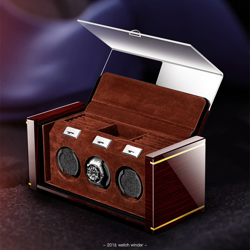 High-end Piano Lacquer Mechanical Watch Winder Solid Wood Box For Automatic Watches Cases With jewelry drawer watches display high end piano lacquer mechanical watch winder solid wood box for automatic watches cases with jewelry drawer watches display