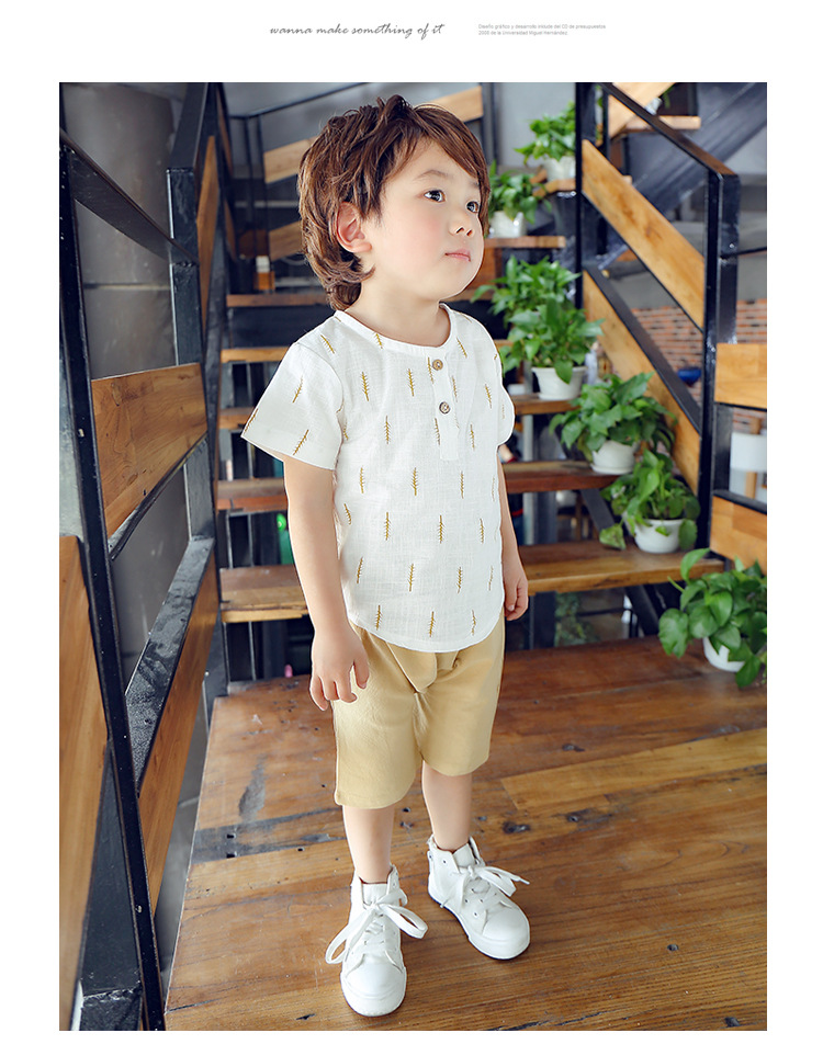 2019 New Kids Clothes Spring Boys Clothing Sets T Shirt + Shorts Toddler Boys Clothing Baby Boy Fluid Systems Clothes Brand 35