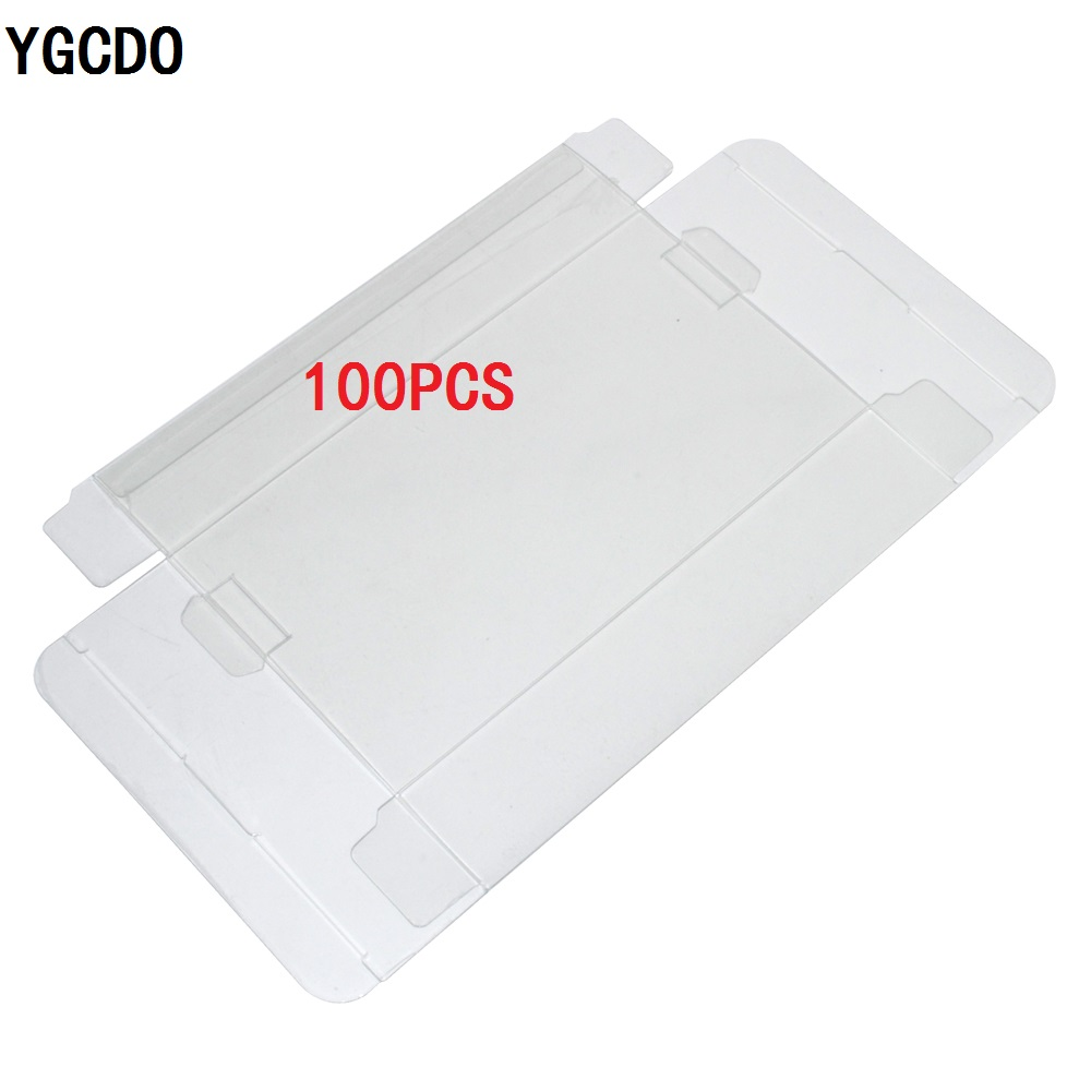 YGCDO 100 pcs Transparent Clear for SNES For N64 Game box Protector Case games plastic PET Protector game boxes image