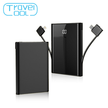 лучшая цена Travelcool 8000mAh Pover Bank Mobile Power Supply Power Bank PD Quick Charge Powerbank External Battery Power Bank with Cable