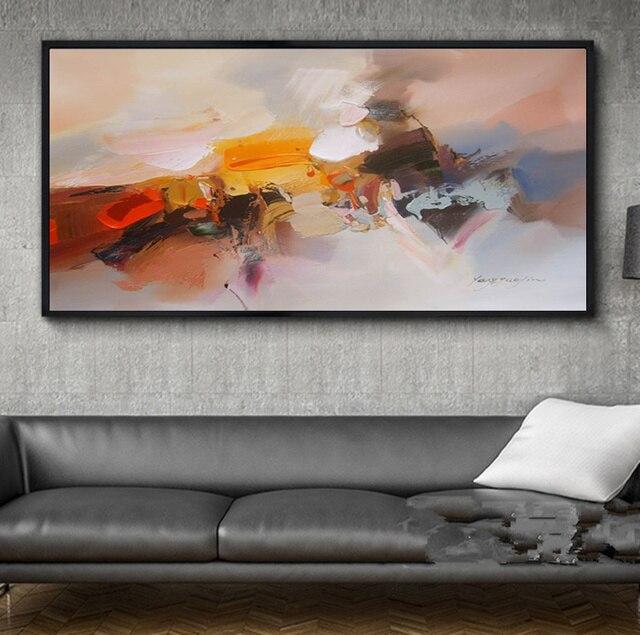 Peint à La Main Peintures À Lu0027huile Toile Abstraite Moderne Mur Art Photo  Pour