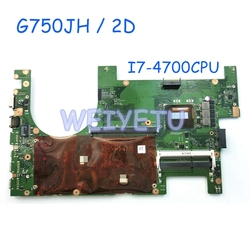 G750JH/2D I7-4700CPU Moederbord Voor ASUS G750J G750JW G750JH Processor 2D connector HM87 Laptop Moederbord Rev 2.1