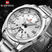 2019 NAVIFORCE Новый Лидирующий бренд для мужчин часы Полный сталь водостойкий повседневное кварцевые Дата Мужской наручные