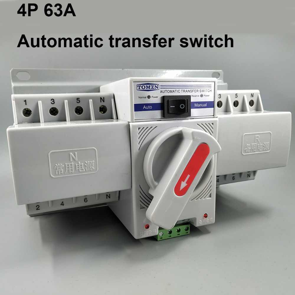 4P 63A 380V MCB Tipe Dual Power Automatic Transfer Switch ATS