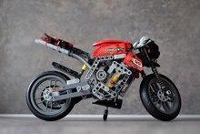 Nova Técnica de série Do Carro Da Motocicleta fit legoings technic modelo de Moto de corrida da cidade tijolos blocos de construção de brinquedos diy Presente Do Menino do miúdo