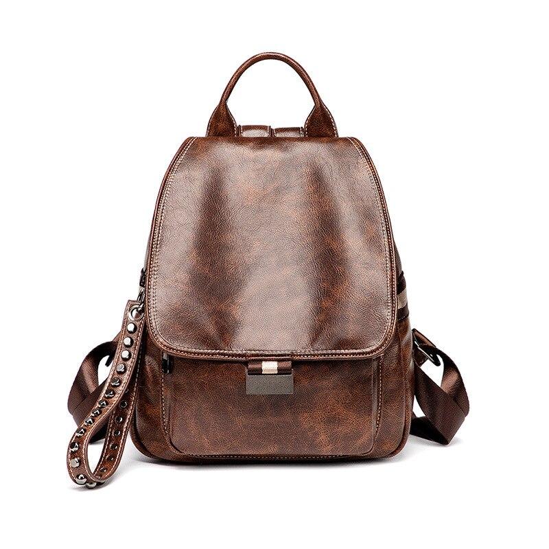 Превосходное качество, утолщенный, масло, воск, кожа, женский рюкзак, Ретро стиль, многофункциональный, мягкая кожа, противоугонная сумка, но