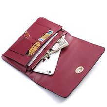 teemzone 2016 Fashion with Extra Coin Pouch Assured Leather Unique Designer Red Innner Bifold Men Long Wallets Men Purse J35