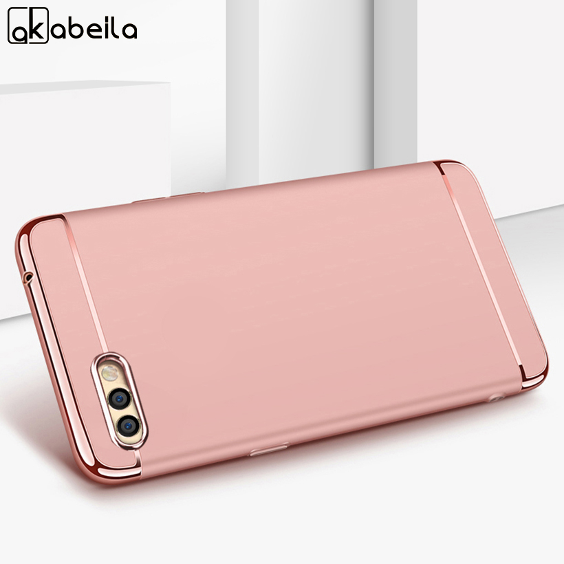 AKABEILA Plating Plastic Case For Huawei Honor V10 Case Back Cover Coque for Huawei Honor View 10 V 10 5.99inch Anti-Knock Etui