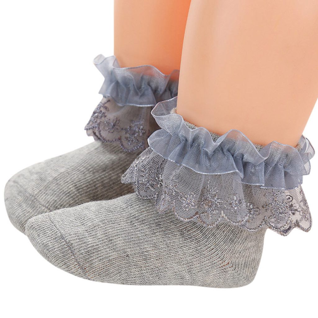 Baby toddler princess lace socks infant vintage lace ruffle frilly ankle Socks /&