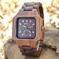 Rectángulo de la manera bewell reloj de madera para la venta relojes elegantes para hombres simples relojes de caja de regalo de papel japón ver batterie 001a