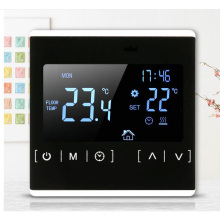 цены Double temperature dual control floor heating thermostat LCD touch screen room temperature controller thermostat backlight