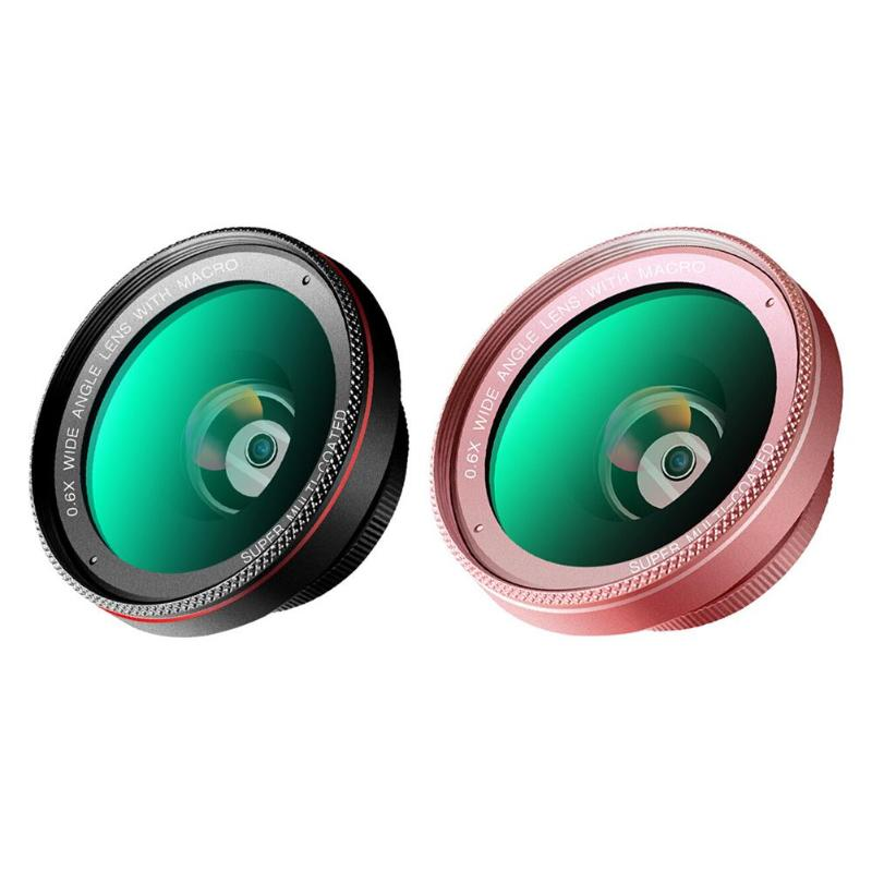 Universal 2 in 1 Clip On Cell Phone Camera Lens 0.6X Wide Angle Lens+15X Macro Lens for Smartphones High Quality Wide Angle Lens Mobile Phone Lens     - title=