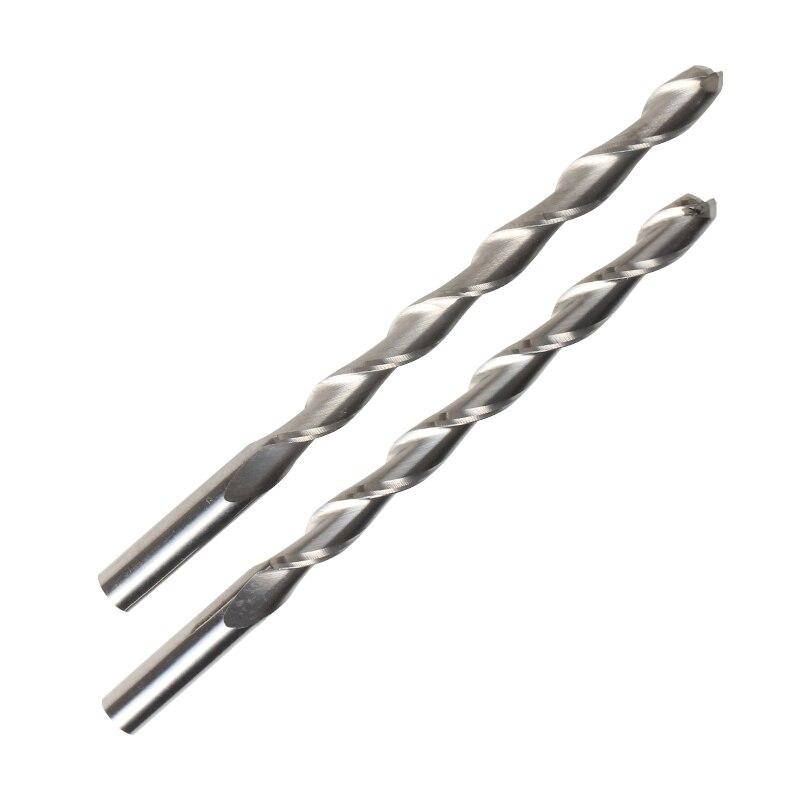 2pcs shank 6mm x72mm two flutes cnc router carbide milling cutters  double flute spiral bits