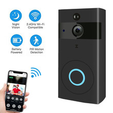 WIFI Doorbell HD 720P Video Camera Wireless Battery Door Bell Smart Home Security Intercom Night Vision Motion Detection SD Card