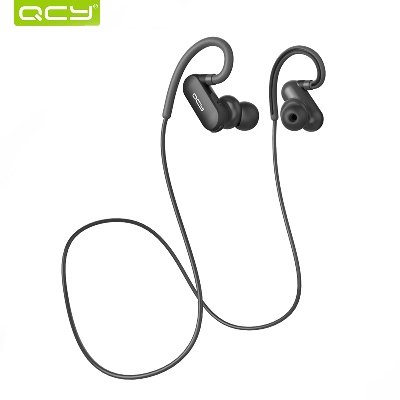 QCY QY31 Bluetooth Earphones IPX4 Sweatproof Earphone Ear Hook Wireless Sports Earbuds with MIC new fashion sweatproof wireless bluetooth v4 0 sports stereo headphones with mic ear hook earbuds earphones for iphone for sony