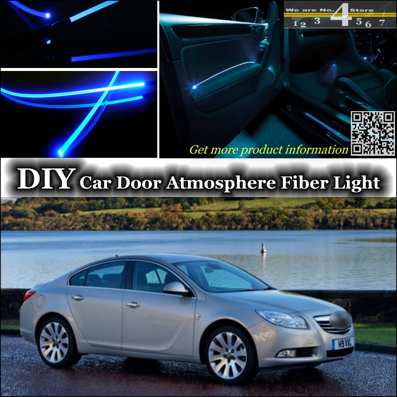 interior Ambient Light Tuning Atmosphere Fiber Optic Band Lights For Vauxhall Insignia Inside Door Panel illumination Tuning