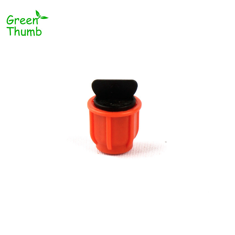 50pcs 8/11mm Garden Hose End Cap More Fixed Orange Thread Locked Hose End Connector Green Thumb Water Pipe End Plug