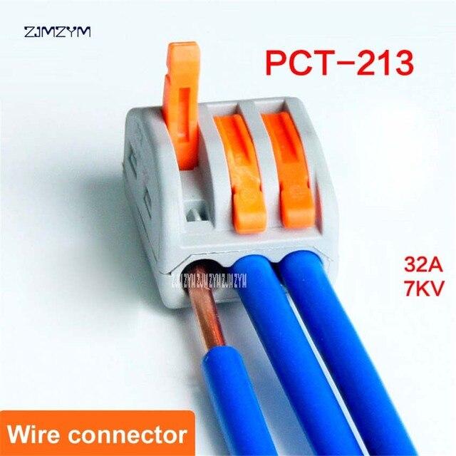 5 Teile/los PCT 213 Universelle Kompakte Verdrahtung Stecker 3 pin ...